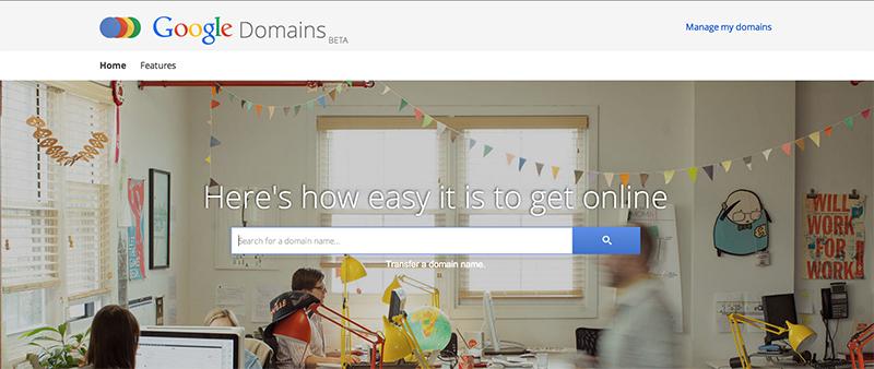 google domains aide créer site web blog