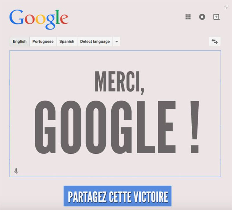 google accuse homophobie traduction