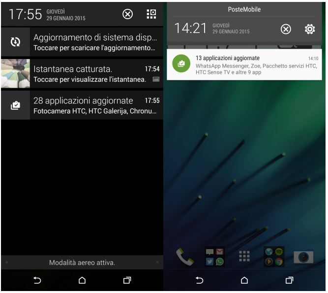 HTC One M8 Android Lollipop notifications