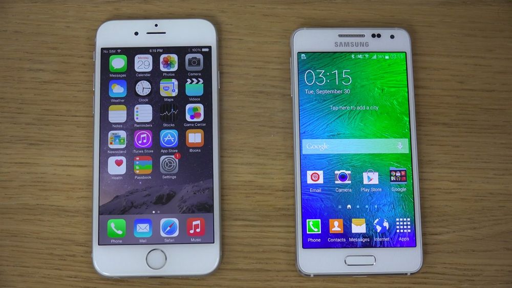 iPhone 6 Galaxy Alpha