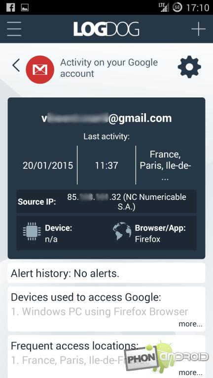 LogDog et la protection de Gmail