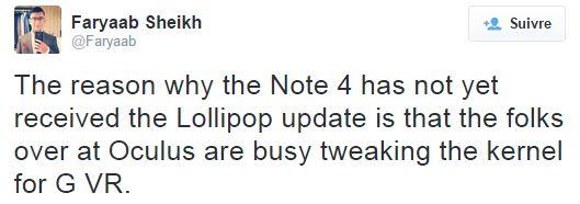 Galaxy Note 4 Lollipop Gear VR