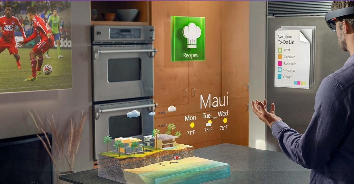 météo dans le cuisine avec HoloLens
