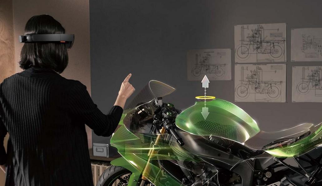 modelisation moto casque hololense
