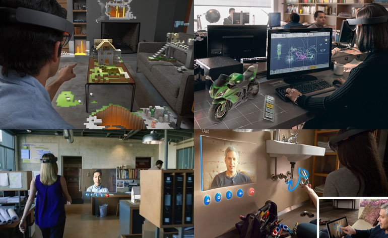 usages d'hololens