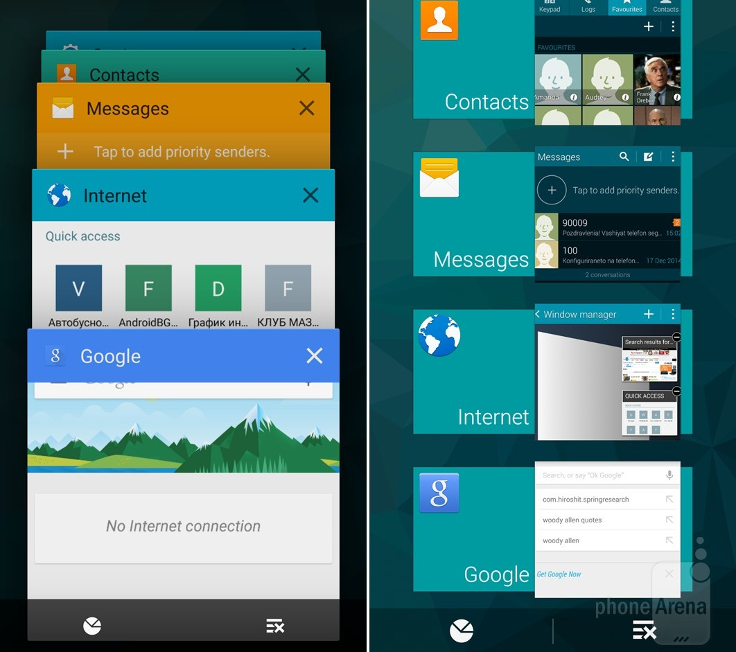 TouchWiz Android Lollipop vs KitKat