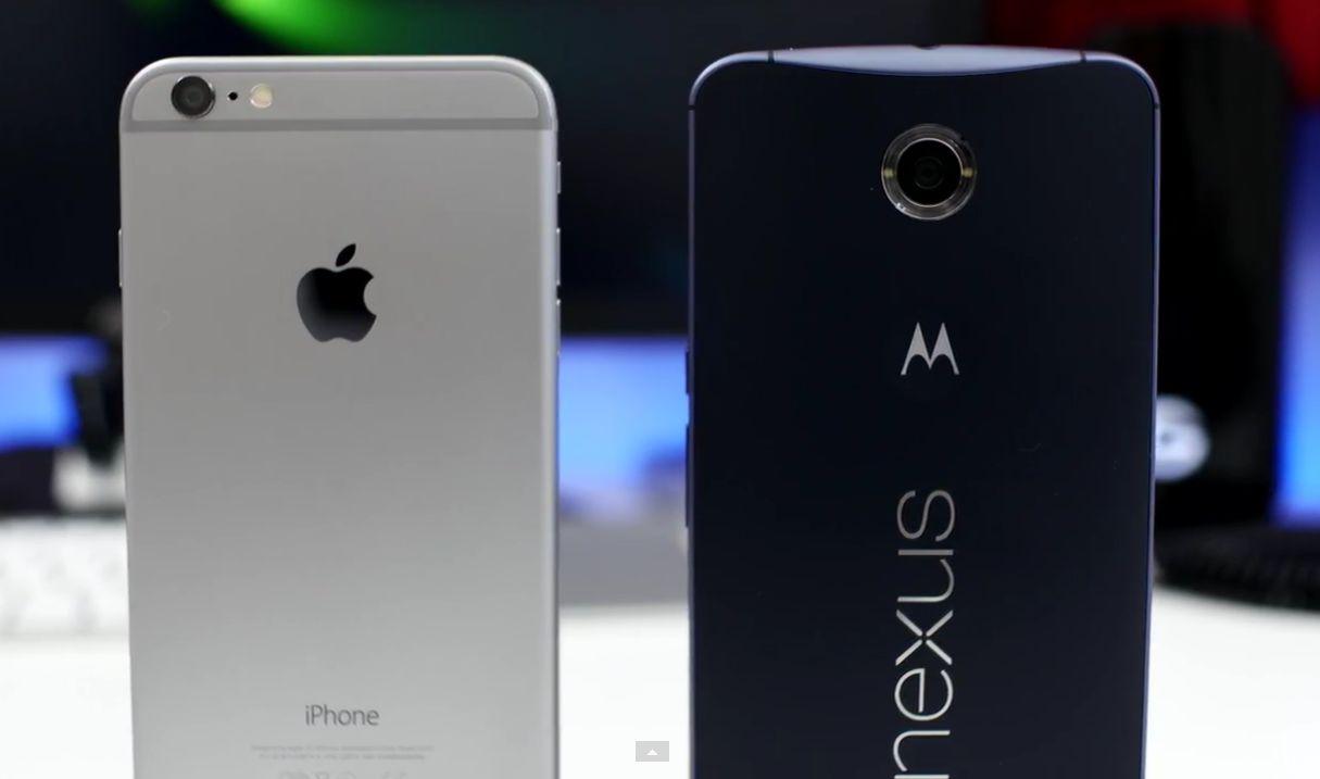 iPhone 6 Plus Nexus 6