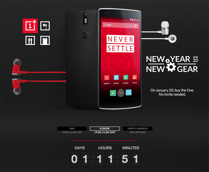 vente flash oneplus one