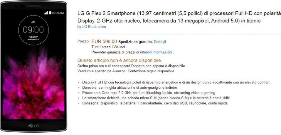 prix LG G Flex 2