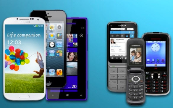 Les smartphones contre les téléphones classiques