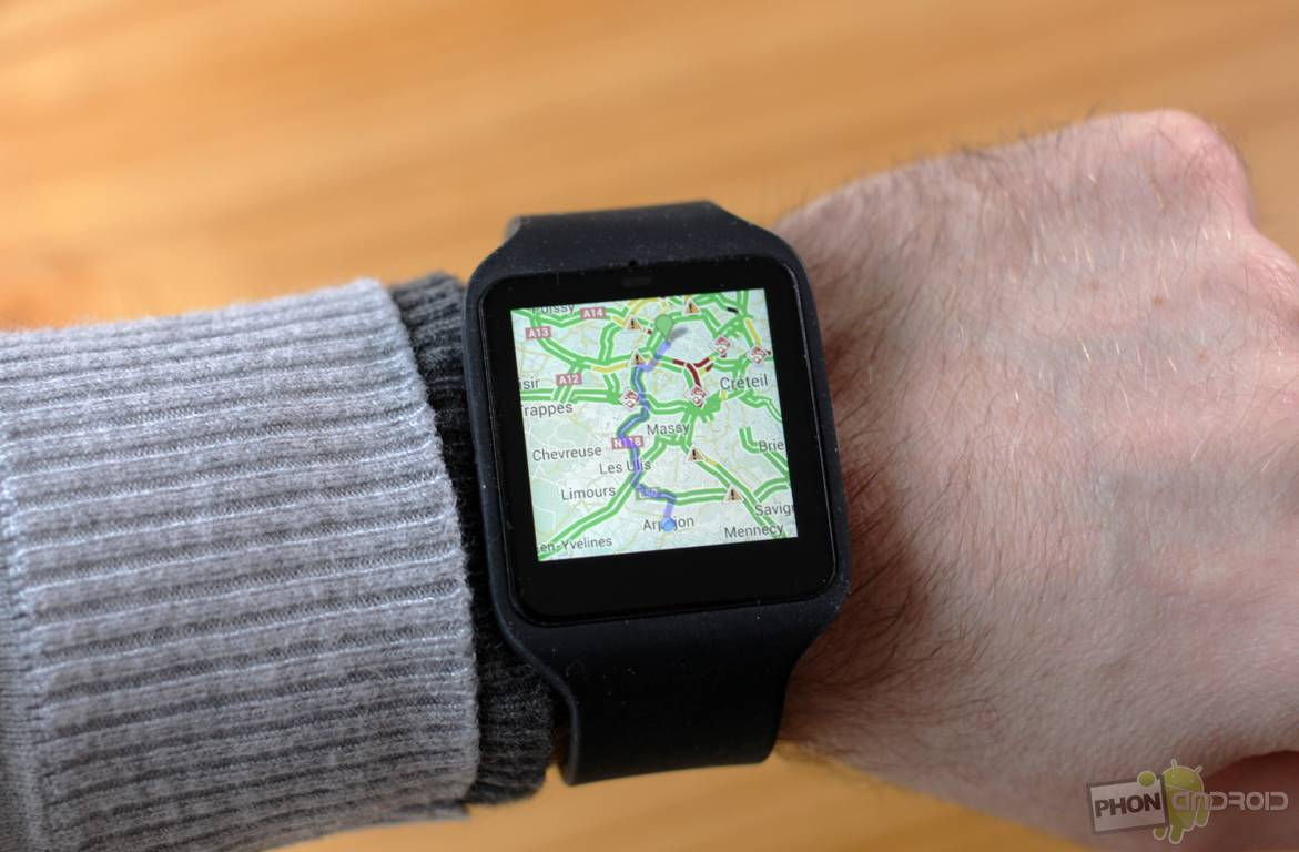 sony smartwatch 3 google maps