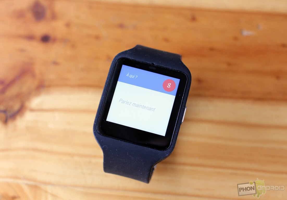 sony smartwatch 3 google voice
