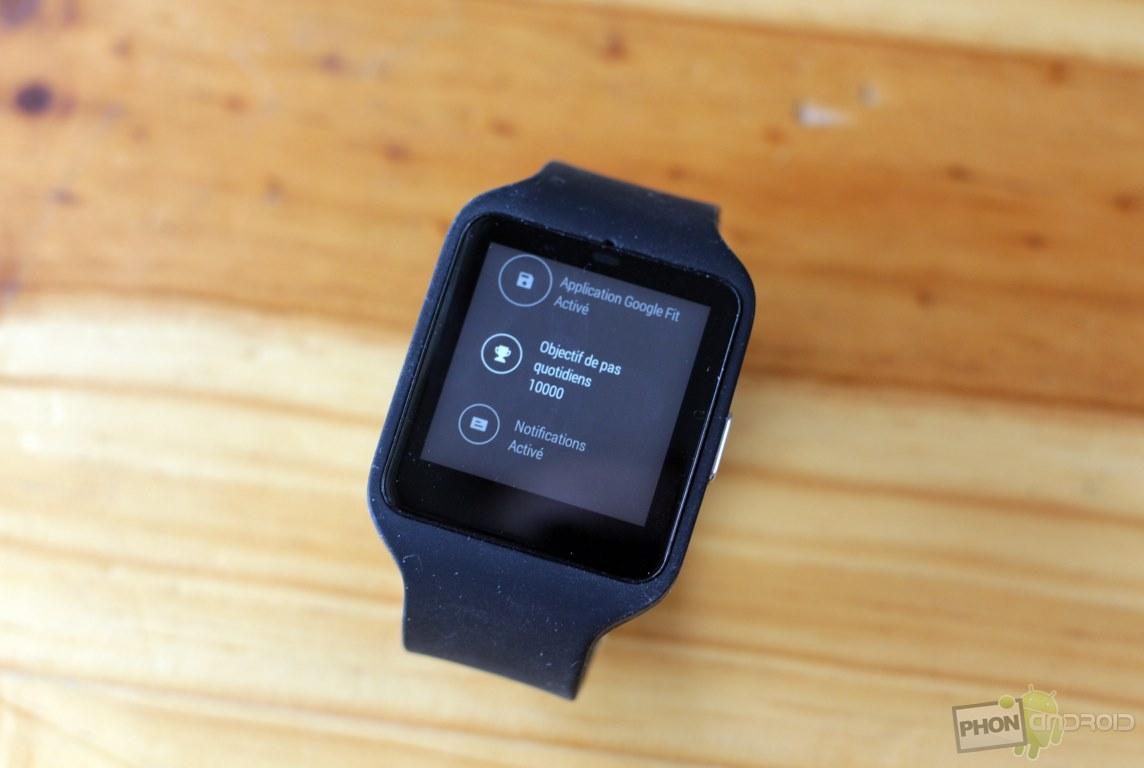 sony smartwatch 3 interface
