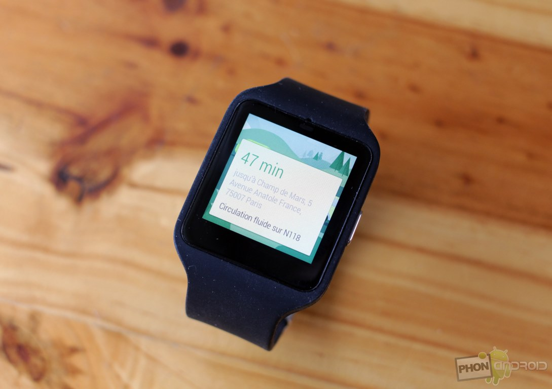 sony smartwatch 3 navigation
