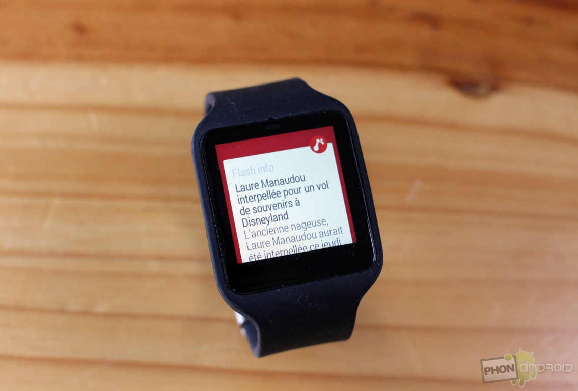 sony smartwatch 3 notifications