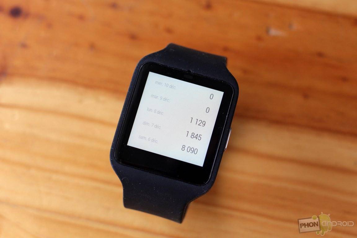 sony smartwatch 3 podometre