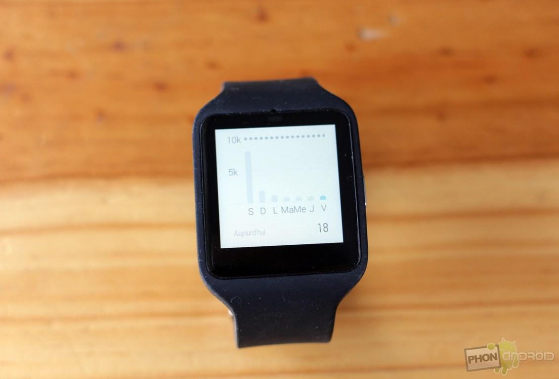 sony smartwatch 3 tracker activite