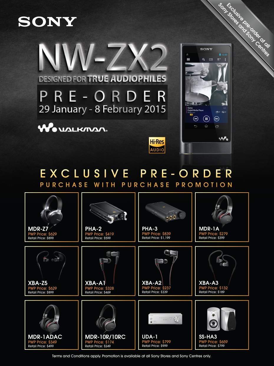 Sony Walkman, offres de précommande