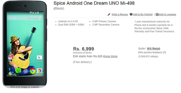 Le Spice Android One en Inde exclusivement