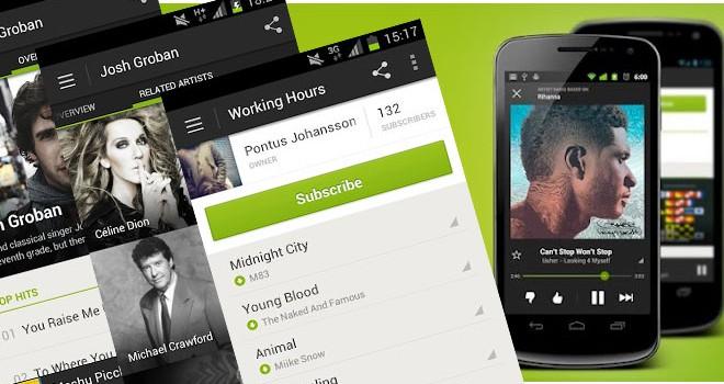 Spotify, un succès sur smartphones et tablettes