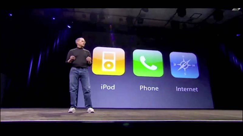 steve jobs presentation iphone