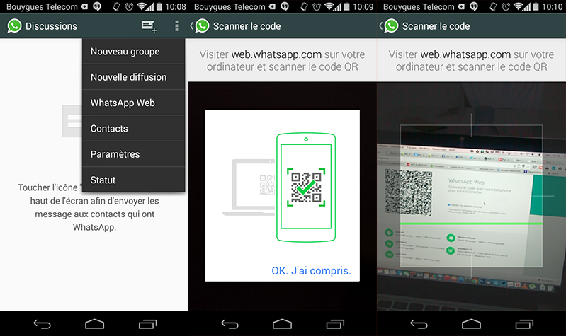 whatsapp messagerie version web