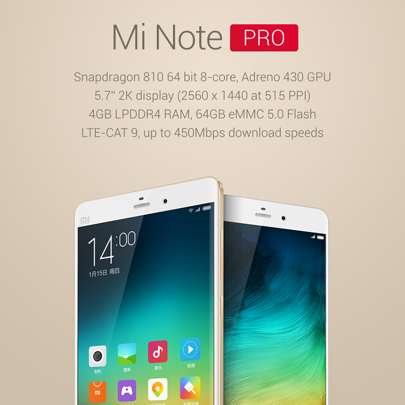 xiaomi mi note pro officiel