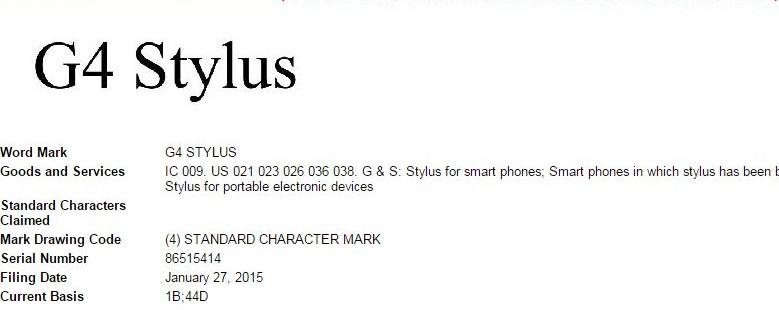 LG dépose le G4 Stylus