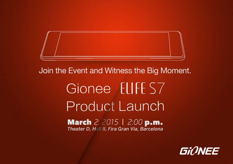 Gionee Elife S7 MWC 2015