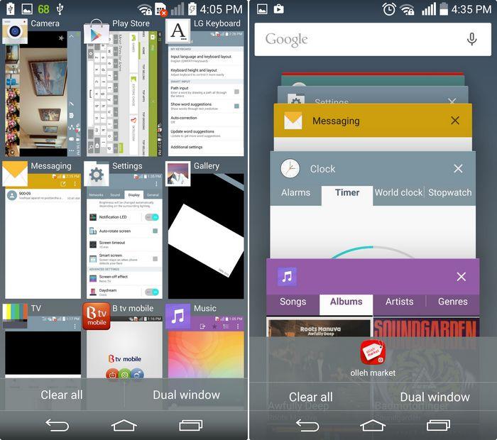 LG G3 Lollipop applications récentes