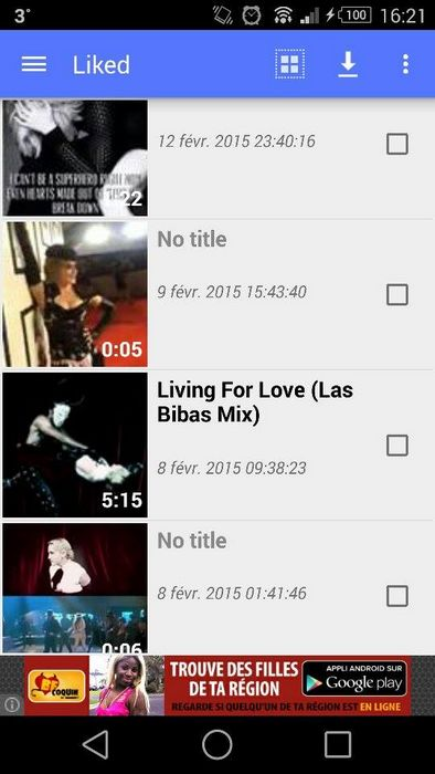 MyVideoDownloader vidéos likées