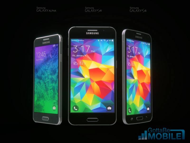Galaxy Alpha vs S6 vs S5