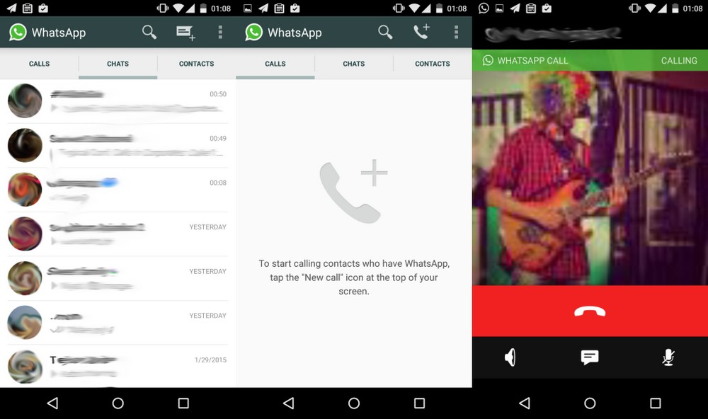 images appel vocal whatsapp