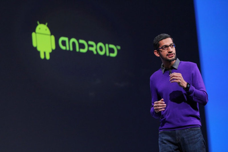 sundar pichai google android apple irresponsable