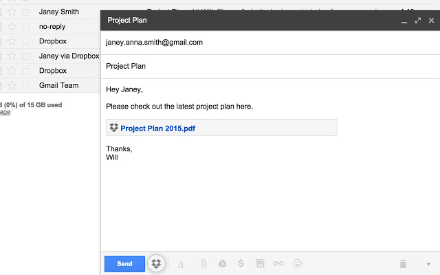 nouvelle extension pour Gmail