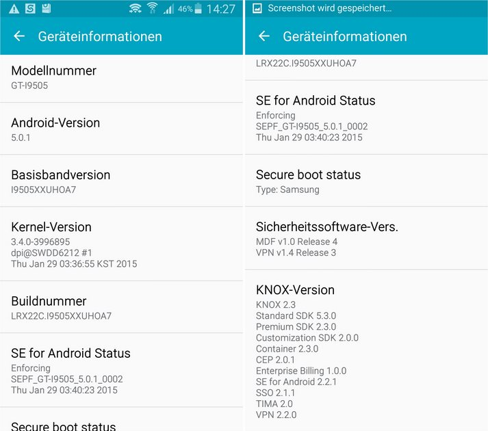 Galaxy S4 Android 5.0.1