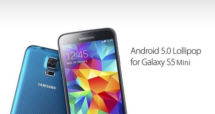 Android Lollipop pour le Galaxy S5 Mini
