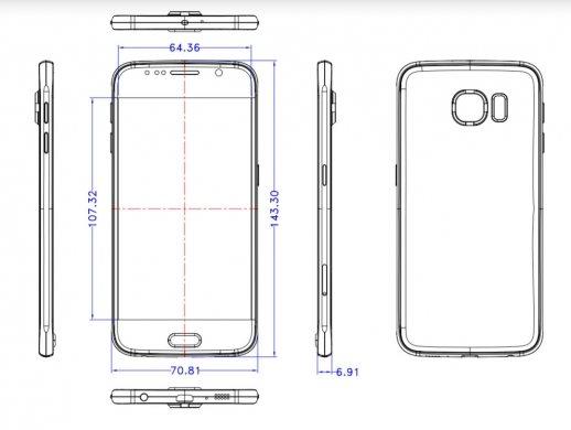 dimensions Galaxy S6