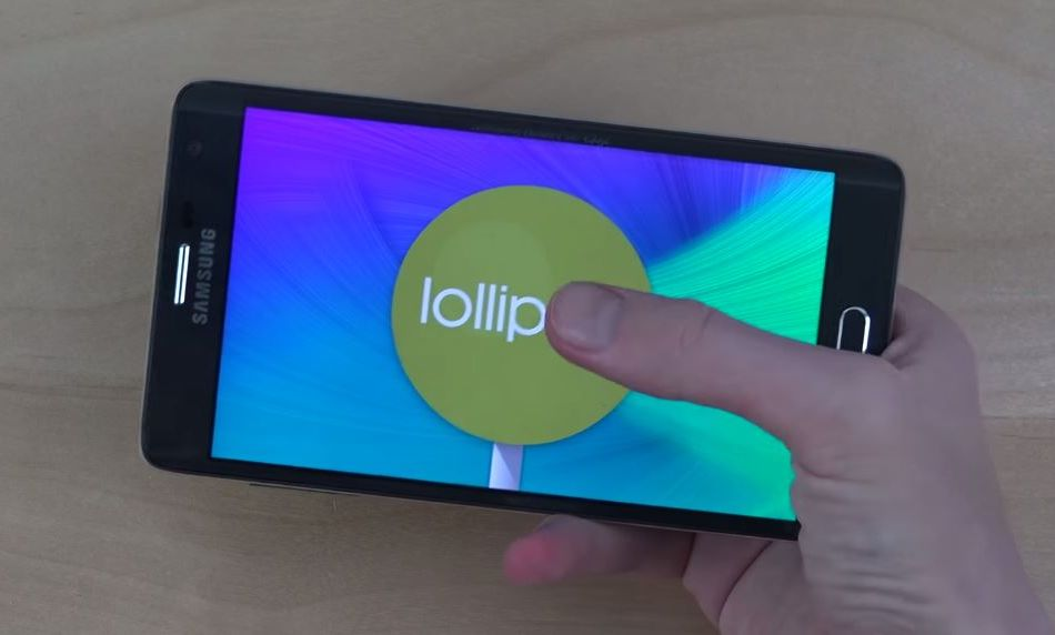 Galaxy Note Edge Android Lollipop