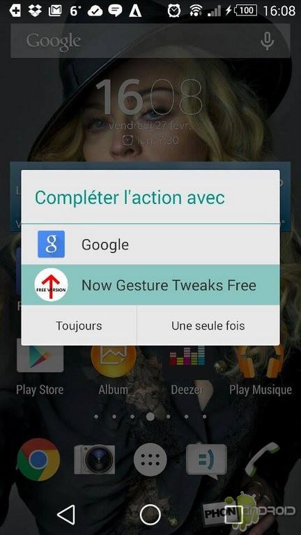 google now gesture tweaks free