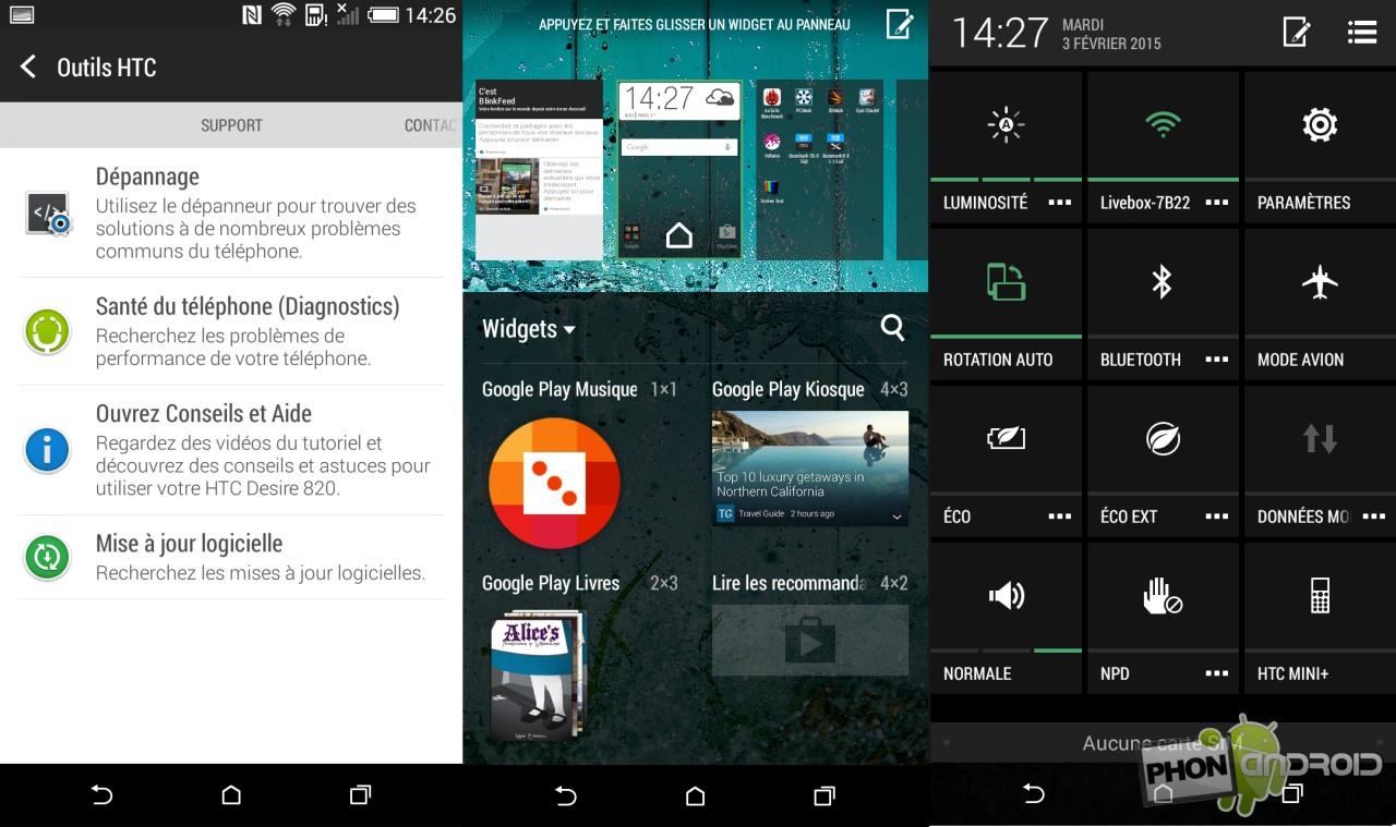 HTC Desire 820, Android KitKat