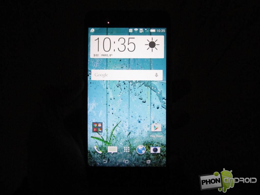 HTC Desire 820, luminosité dans le noir complet