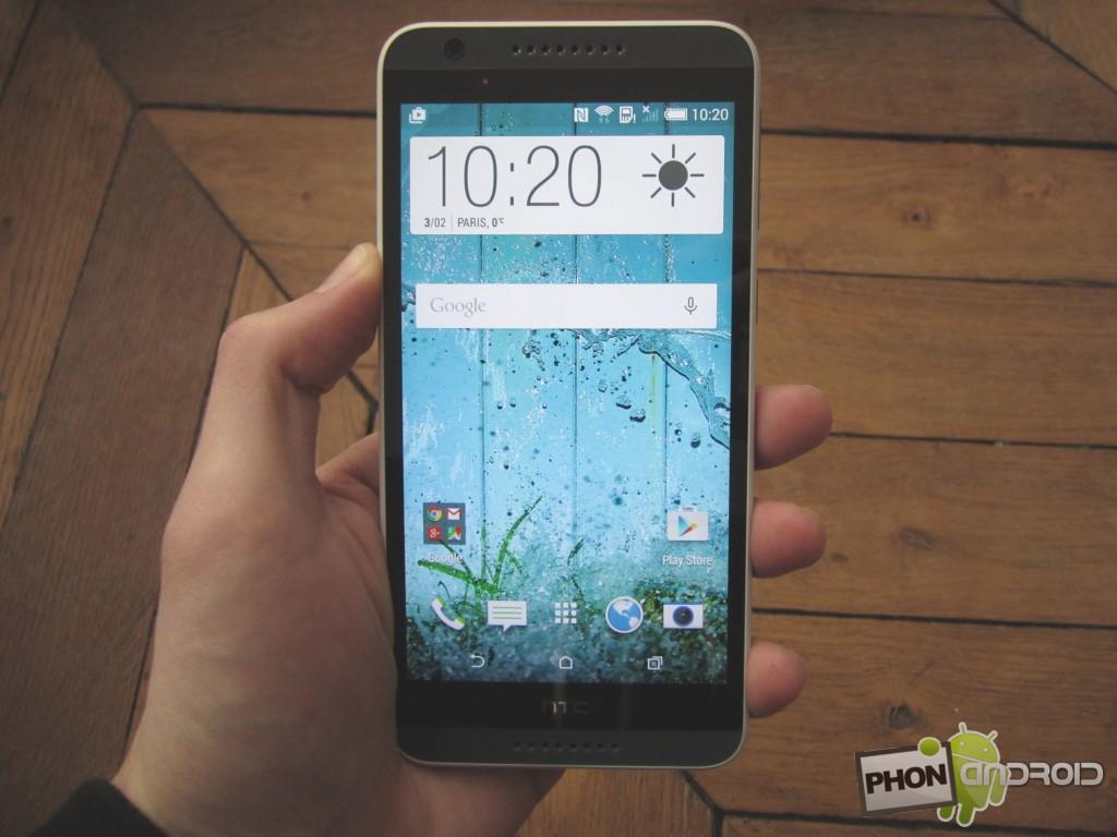 HTC Desire 820, la prise en main