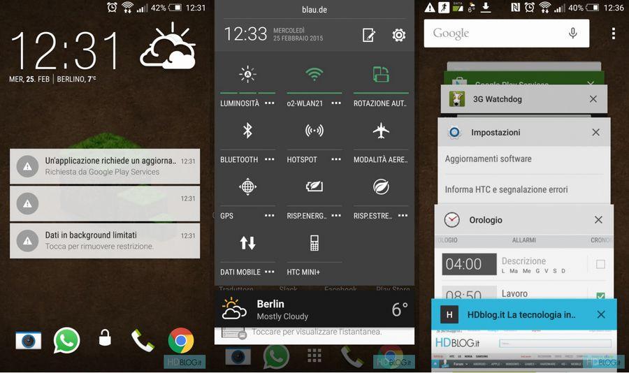 HTC One M7 Lollipop images