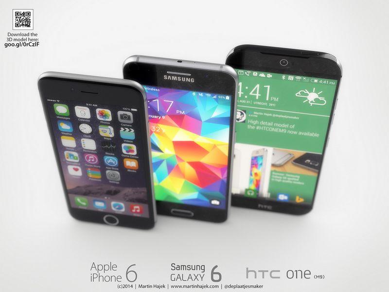 HTC One M9 haut