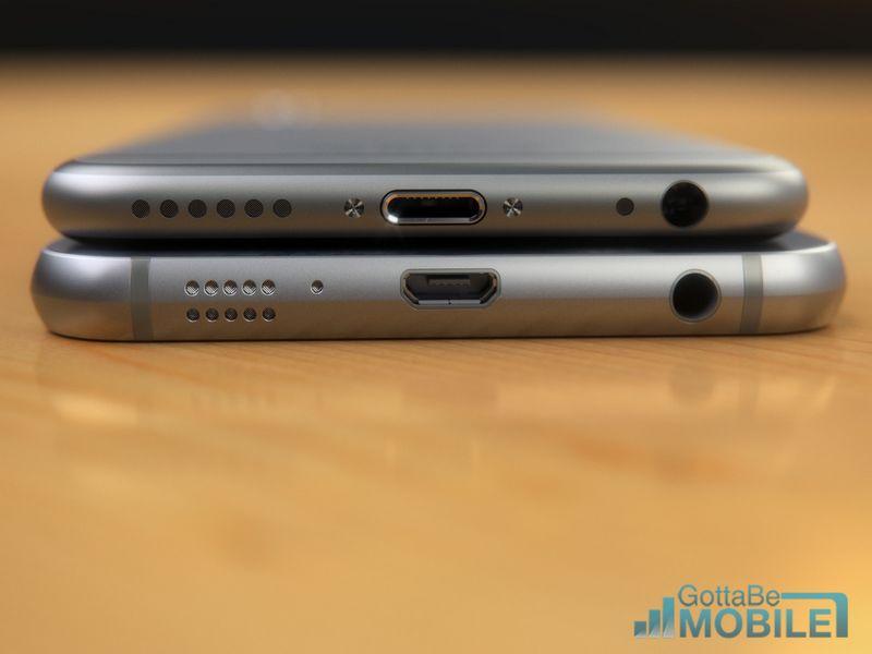iPhone 6 vs Galaxy S6 USB