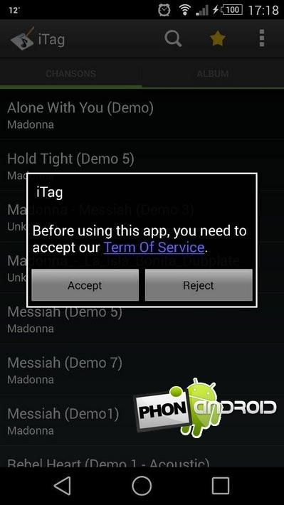 iTagger tagguer MP3 smartphone
