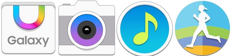 icônes TouchWiz Galaxy S6