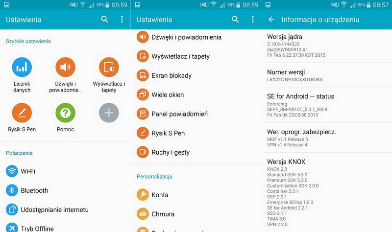 Galaxy Note 4 Android 5.0.1