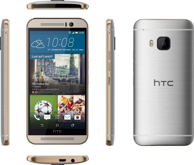 HTC One M9 silver angles